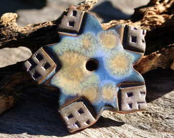 Handmade Ceramic Disc Flower