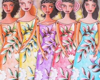Tropical Boho Printable Paper-dolls