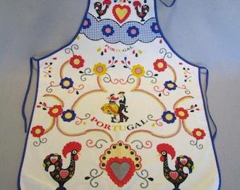 Vintage Souvenir Bib Apron from Portugal