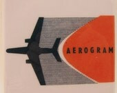 Aerogram Vintage Airplane Tile Coaster