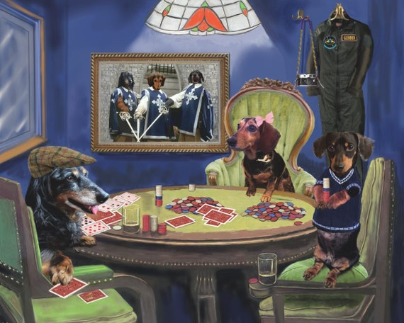 Poker dogs canvas