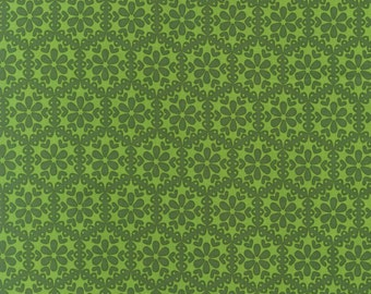 Stitch Organic Monohexies Green - One yard