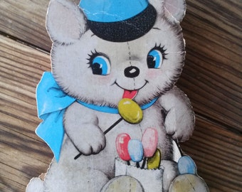 Vintage 1960s Candy Box Cardboard Gift Box Trinket Treasure Jewelry Box
