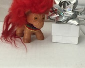 Vintage Dam Troll pony Horse circa 1964 with Vintage Harness Free shipping