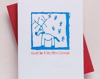 BOXED SET OF 6 - Reindeer Christmas Card