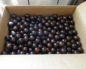 US Shipper - Round or Rondelle Wood Beads - 20 MM - Coffee or Brown Color - 1 to 25 - Wooden Bead