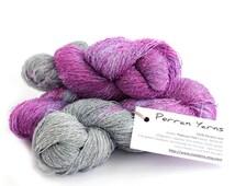 Banana laceweight yarn, hand dyed vegan silk, natural fiber lace yarn, Platinum Pink handdyed knitting crochet wool, uk seller, yarn skein