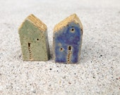 RESERVED for Ali, house beads, kiln fired,clay