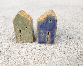 house beads, kiln fired,clay