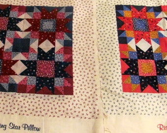 Four Rising Star Pillow Panels