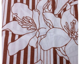 40% FLASH SALE- Reclaimed Fat Quarter -Retro Floral-Bed Linen Fabric