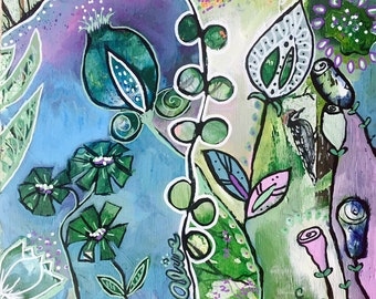 ALIVE, Original Intuitive painting, Modern Art Nouveau Painting by Carol Iyer