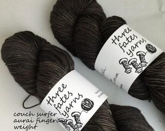 couch surfer - aurai fingering weight merino yak nylon sock yarn, dyed to order