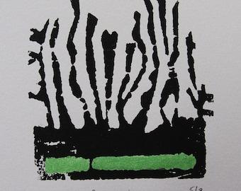 Original Print - 'Primordial' A4 size - 220gsm Paper - Unframed