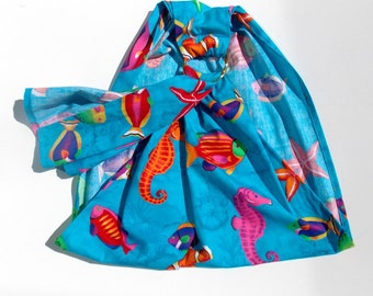 Doll Sling - Doll Toy Carrier - Babywearing - Baby Doll Wrap - Ring Sling - Toy Doll Sling - Child Ring Sling - Doll Ring Sling - Reef Fish