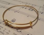 Expandable Bangle Bracelet - 2 pc. - Nickel Free - Blank Charm Bracelet - Gold Bangle Bracelet - Expandable Bracelet - Bangle Bracelet