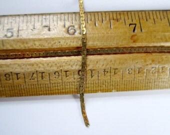 8 feet vintage raw brass flat chain 2mm wide - c19