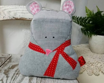 Gray Mouse - Mouse Toy - Stuffed Mouse - Montessori - Mouse Stuffed Animal - Mouse Gift - Child Gift - Baby Stuffed Animal - Plush Mouse
