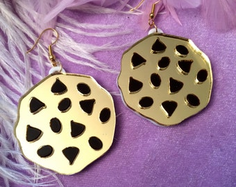 Chocolate Chip Cookie Laser Cut Acrylic Earrings