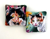 Two Catnip Filled Cat Toys Calico Cats