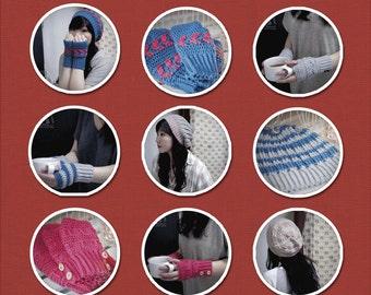 Winter Apparels Crochet Pattern Pack (3 beanies, 3 mittens)