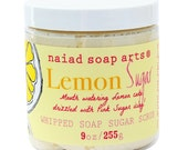 Lemon Sugar Whipped Soap Sugar Scrub