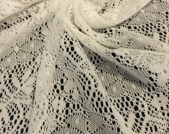 Floral Lace Fabric 3/4 Yard