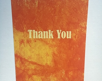 Absract Orange 5x7 Thank You Card
