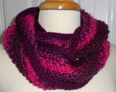 CLEARANCE  Moebius Knit Scarf A Little Bit of This and A Little Bit of That The Pinks and Wines
