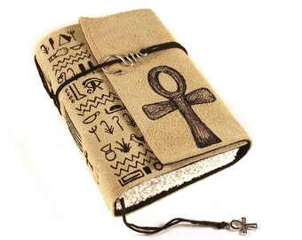 Leather Journal, handmade, Ankh