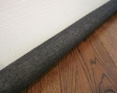 DENIM window draft blocker, door draft stopper, black or dark blue denim draft snake
