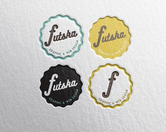 branding logo premade retro bottlecap ++ artist business photographer beer label designer architect label ++ hipster handmade design