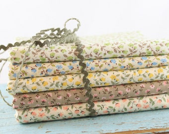Sevenberry Fabric bundle 1/2 yard cuts of 5 prints  for a total of 2 1/2 yards