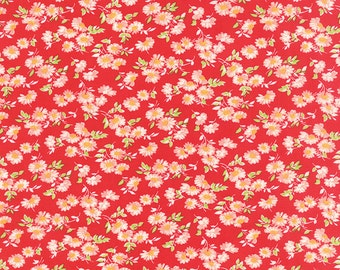 Little Ruby - Little Daisy in Red: sku 55137-11 cotton quilting fabric by Bonnie and Camille for Moda Fabrics - 1 yard