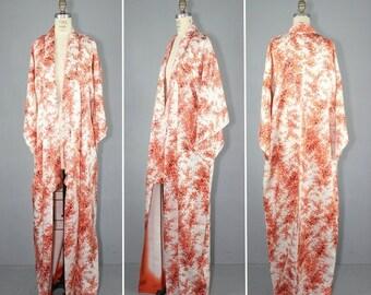 kimono sale / silk robe / wedding kimono / vintage kimono / TINDER and FLAME silk kimono