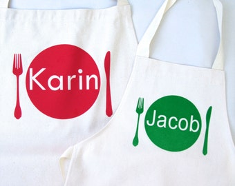Personalised Apron Set|Chef gift|personalised gift|cooking gift|Mom Apron|Apron Set|kids apron|mom and child aprom