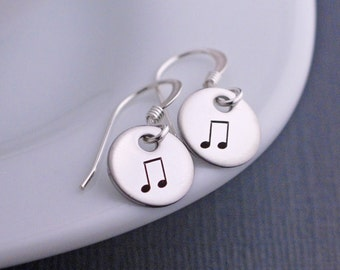 Music Note Earrings, Music Jewelry, Music Lover Gift, Musician Gift