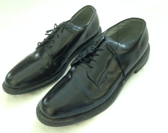 Vintage Original Bates Floaters Black Surfers Office Work Dressy Comfy Leather Sz 13 SALE