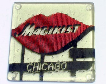 Greetings from Chicago Single Coaster   Magiksit