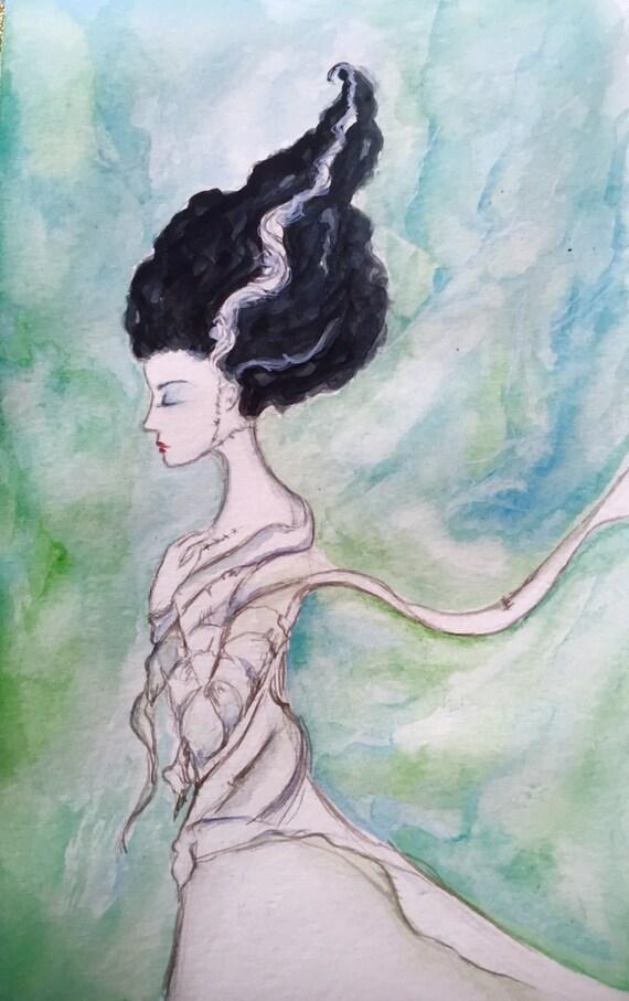 Bride of Frankenstein original painting