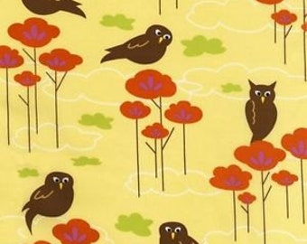 "1 1/3 Yards of Owls ""Hot Courtier"" for Robert Kaufman Fabrics"