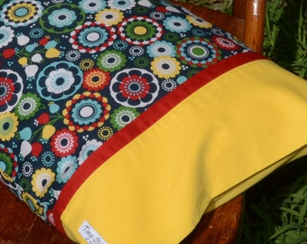 SWEDISH FOLK ART Floral, Travel/Toddler Pillowcase, girls bedding