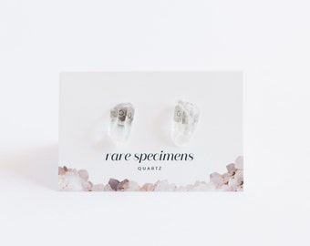 Crystal Quartz Studs