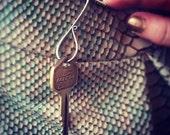 Forged Nickle Chain Fob- Purse Hook - Keychain Keyring - Key Holder- Unisex - Guy Boyfriend Gift - Rustic Antique Key Chain - Key Holder