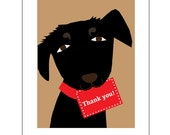 Black Lab thank you cards