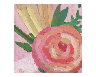 "Original Acrylic Painting - ""Rose III"""