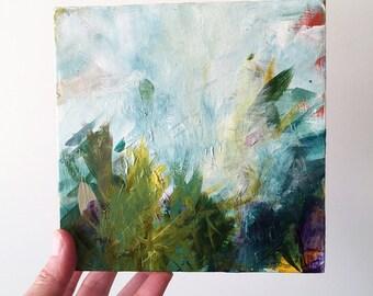 Original abstract landscape, home decor, original art, modern living, fine art, FREE US shipping