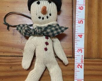 Boyds plush snowman Christmas ornament