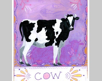 Animal Totem Print - Cow