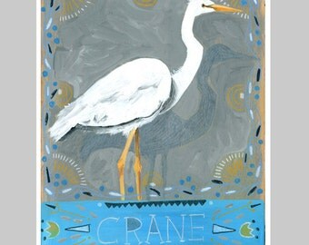 Animal Totem Print - Crane